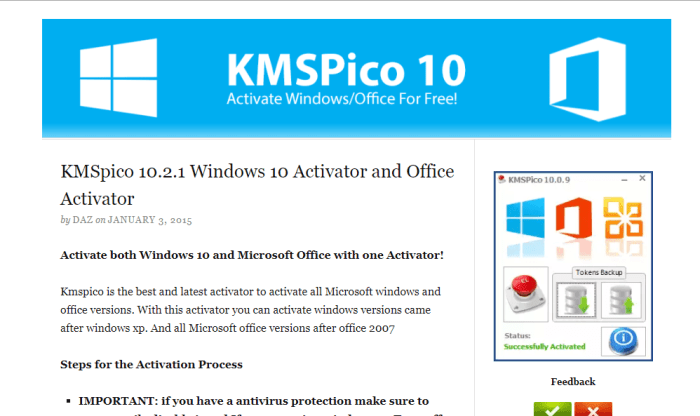 Download KMSpico Offline Installer