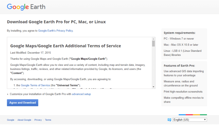 Download Google Earth Pro Offline Installer