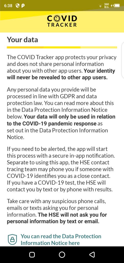 Screenshot of COVID Tracker Ireland App Apk