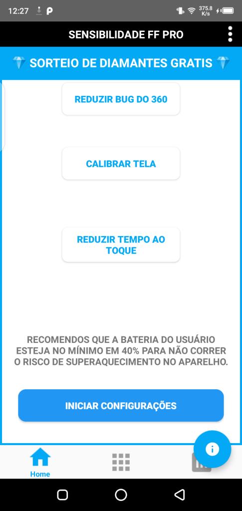 Screenshot of Sensibilidade FF Pro App Apk