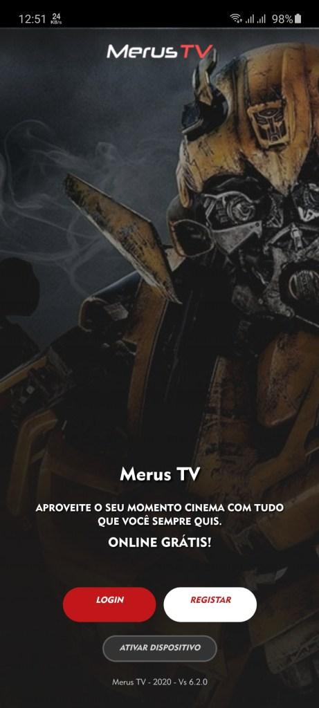 Screenshot of Merus TV