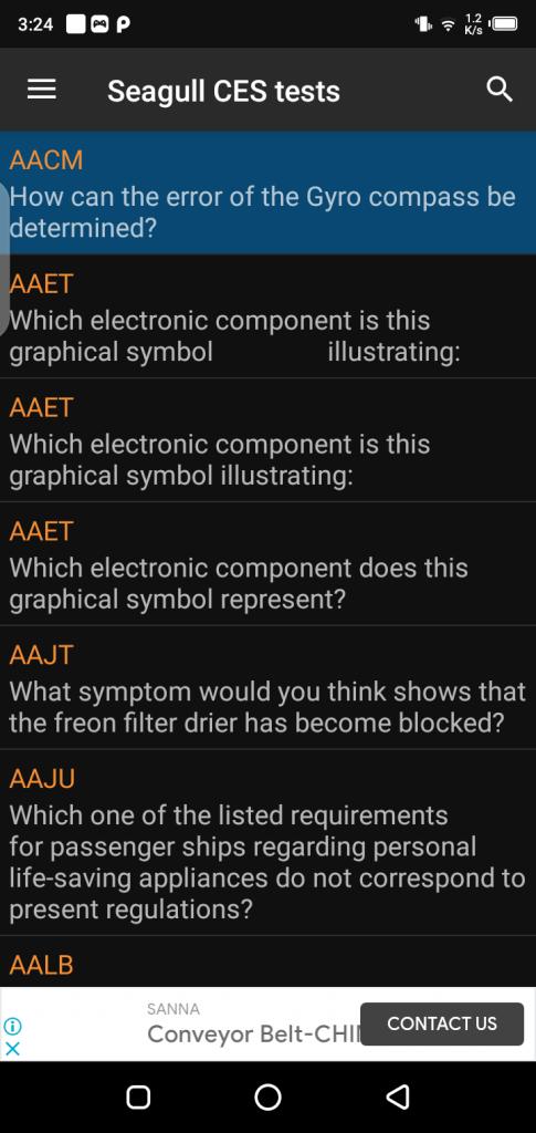Screenshot of Seagull Assistant App