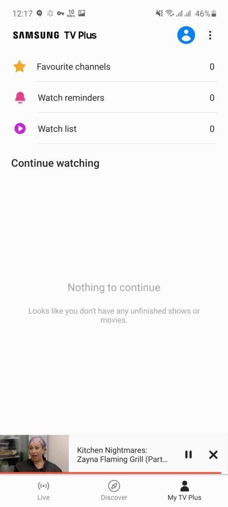 Screenshot of Samsung TV Plus Apk