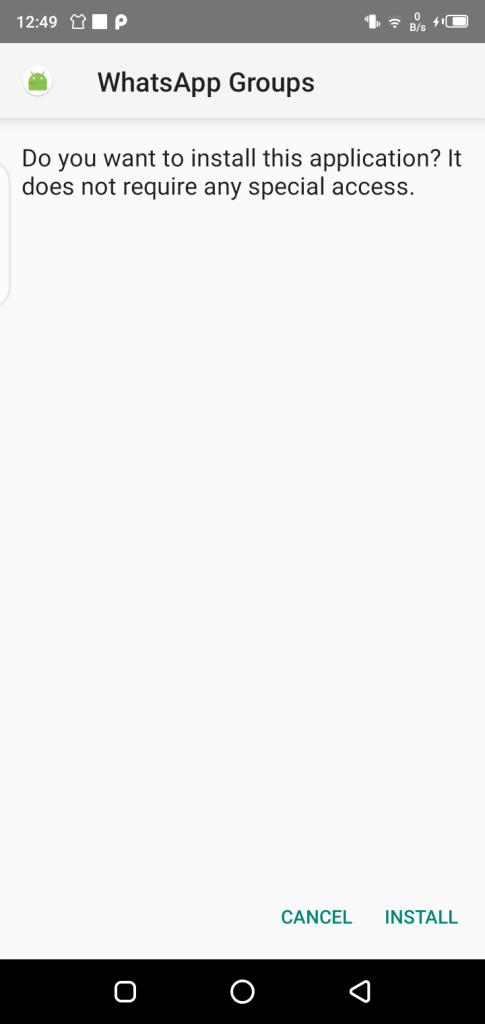 Screenshot of WhatsApp Group Links