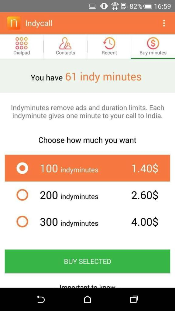 Screenshot of Indycall Apk