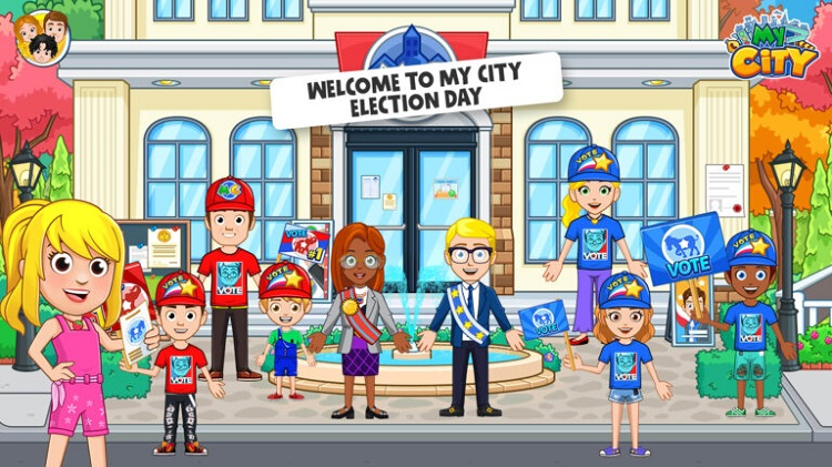 Screenshot of My City Election Day