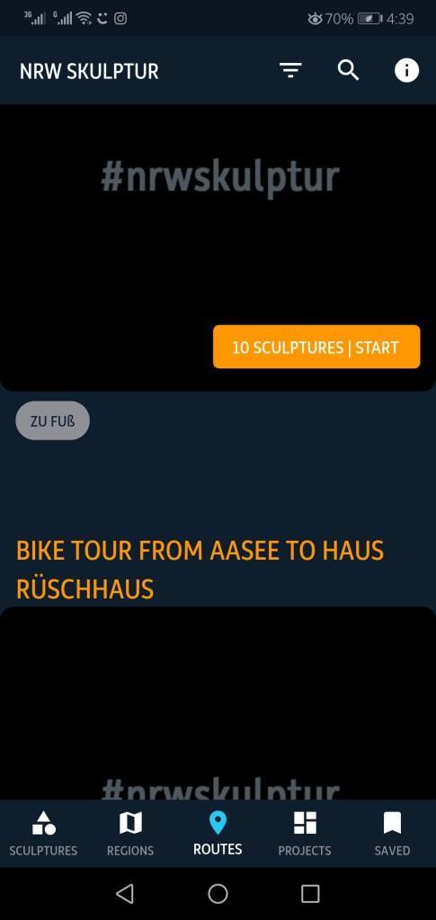 Screenshot of NRW Kultur App