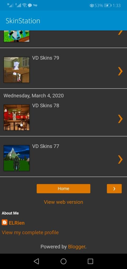 Screenshot of Virtual Droid 2 Skins App