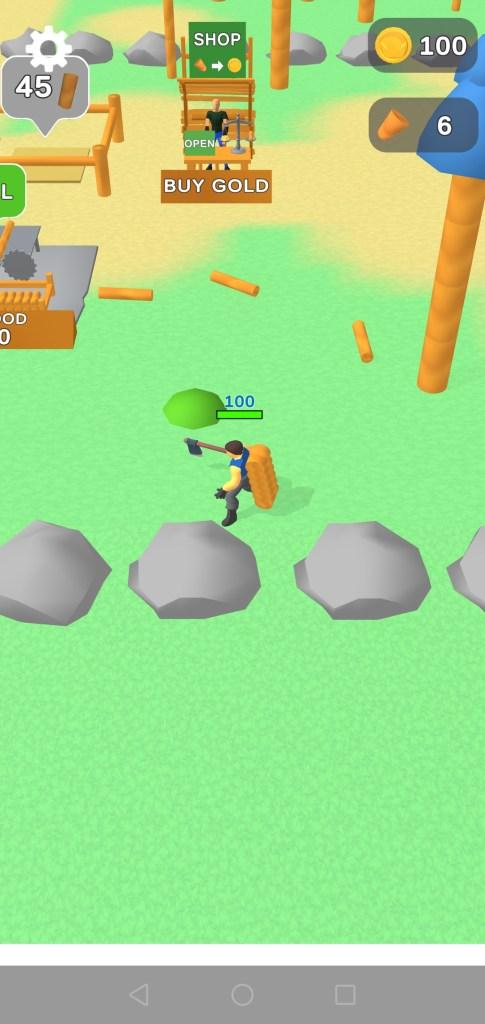 Screenshot of LumberCraft Game