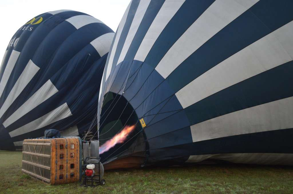 Burners are lit! Balloon is rising