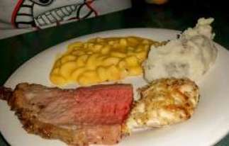 Lobster and Shrimp Mac & Cheese, Carved Loin, Skywalker Ranch Chicken & Spice Mines of Kessel Garlic Mashed Potatoes