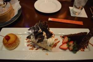 Sampling of the desserts