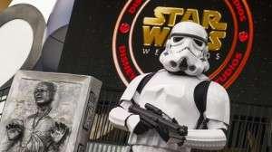 Stormtrooper keeping watch - Orlando Fun and Food