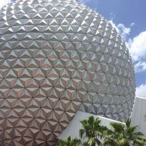 Beautiful day here at ! Ready to ride Spaceship Earth!