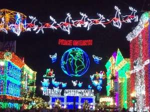 Streets of America decorated with millions of lights