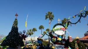 The entrance to Suess landing during the holidays