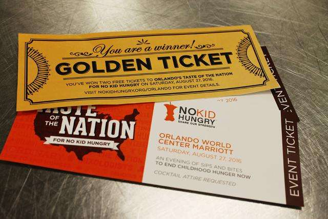 Taste of the Nation Golden Ticket