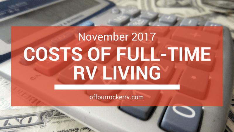 COSTS OF FULL-TIME RV LIVING_ NOVEMBER 2017