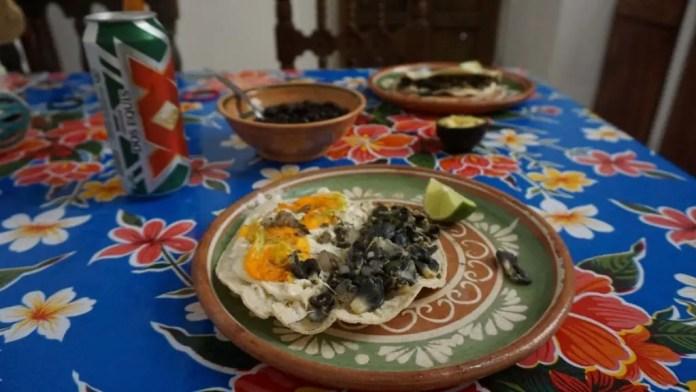 Huitlacoche Quesdillas in Mexico