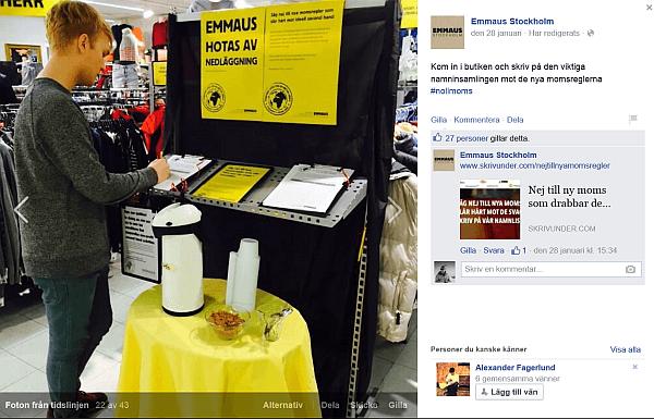 Využití sociálních sítích na podporu kampaně #nollmoms (nulové DPH)