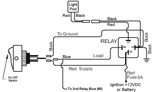 LED Pod Light Relay Wiring Diagram – Offroaders