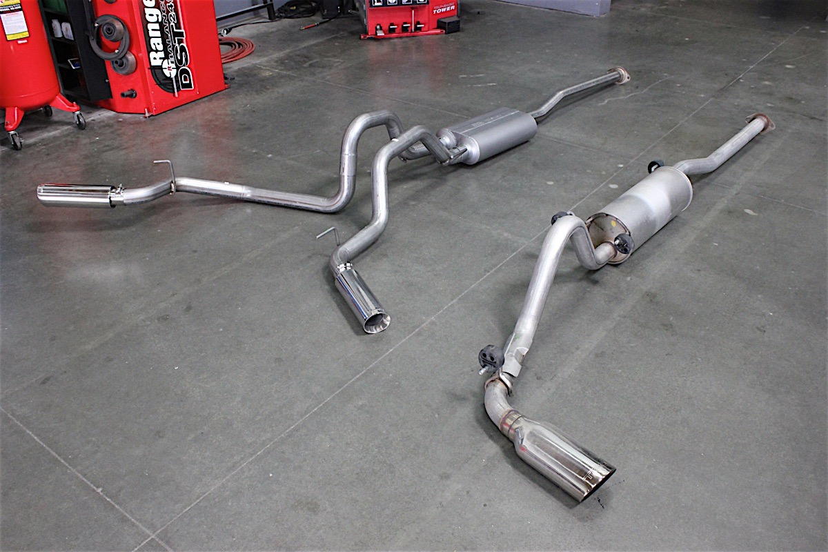 american thunder exhaust on a 2015 tacoma