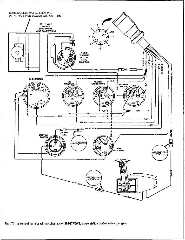 mercruiser fuel wiring diagram