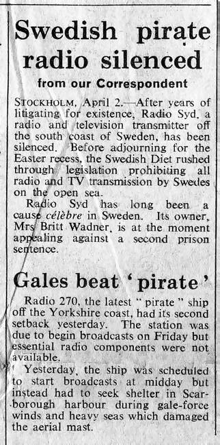 Some Offshore Radio Press Cuttings