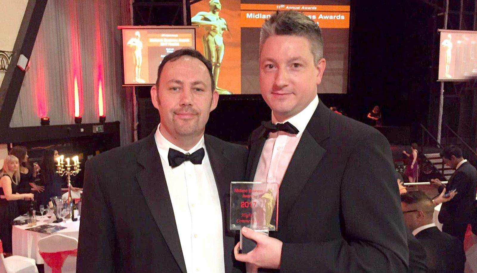 Phil and Simon at the Midlands Business Awards 2017