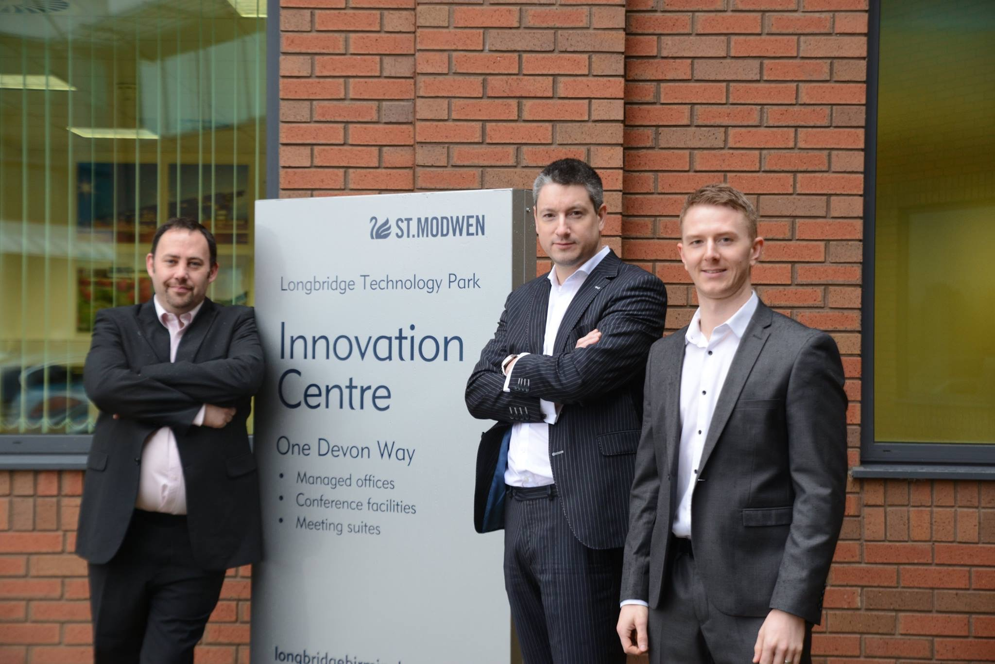 Phil, Simon and Tony at the Innovation Centre