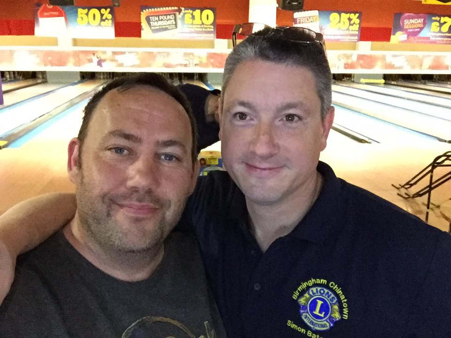 Phil and Simon Lions Ten Pin Bowling