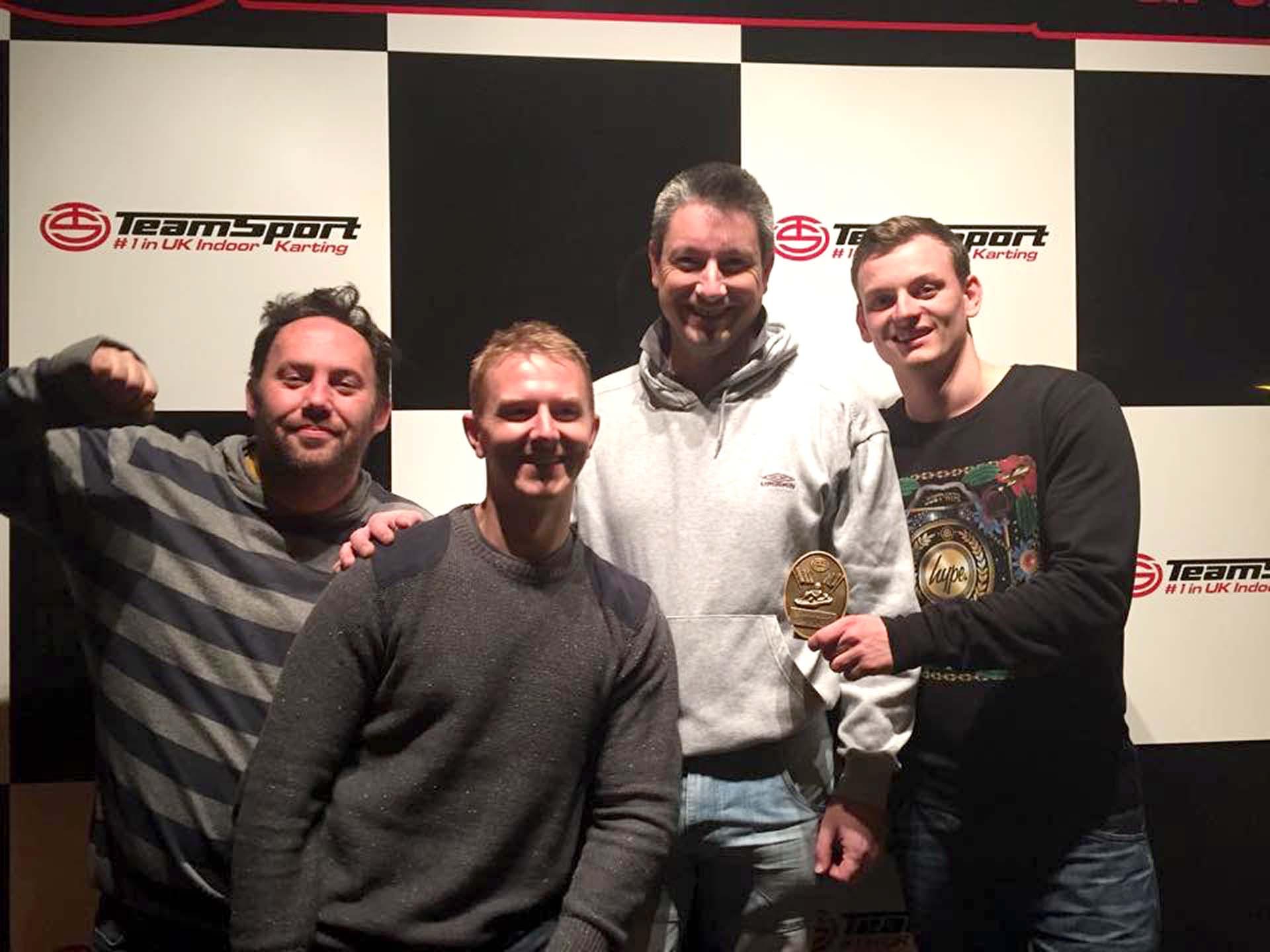 Phil, Tony, Simon and Bradley Go-Karting