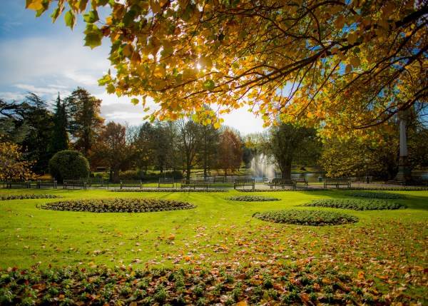 Jephson Gardens Leamington Spa in Autumn