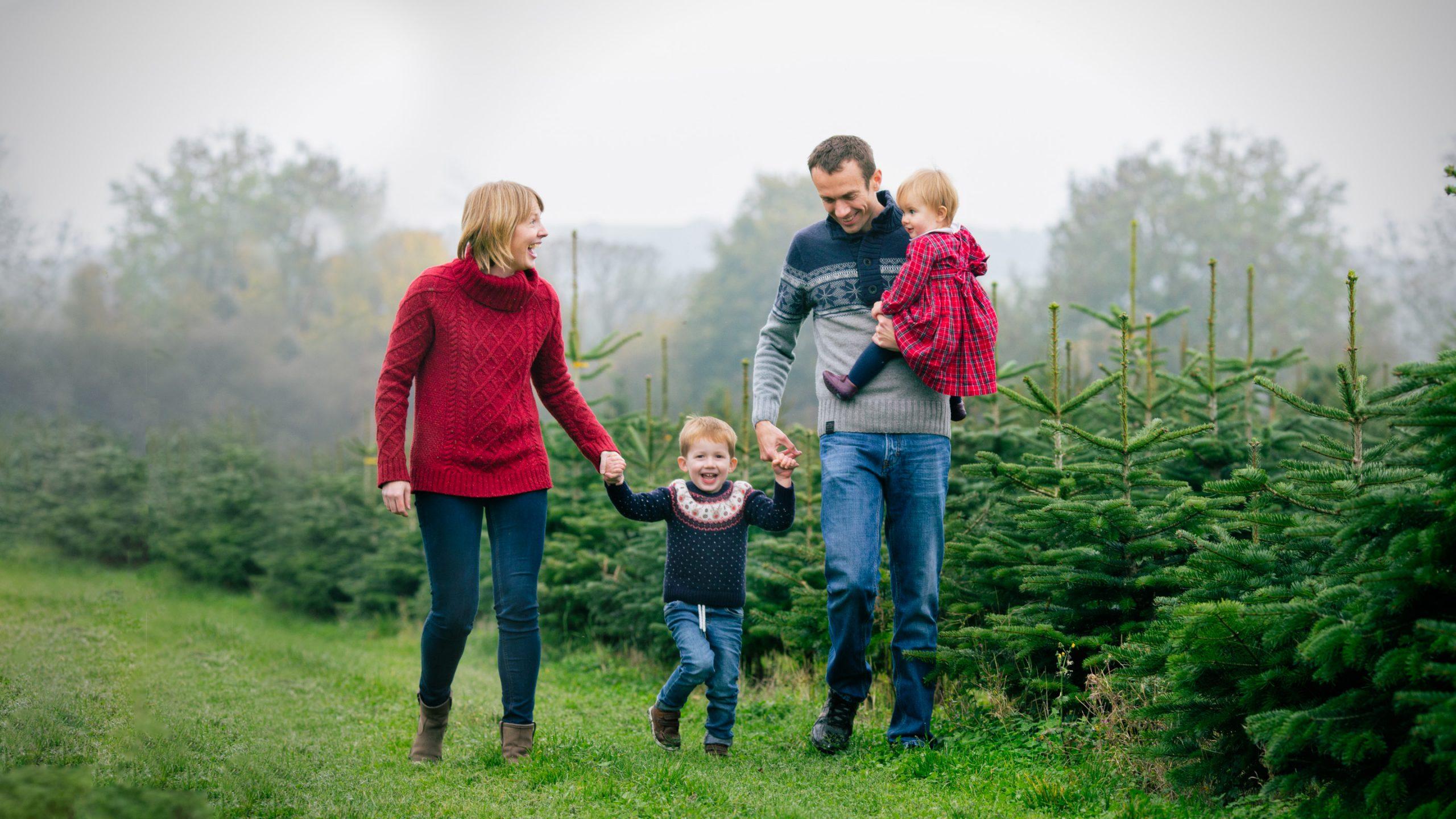 Christmas Tree Farm family photoshoots Warwickshire
