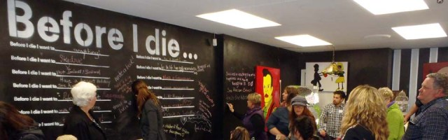 Before I Die Wall in Conversations Cafe, Gawler