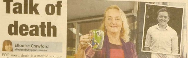 Death Cafe article in Bunyip newspaper