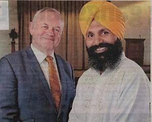 Robert Pitt, CEO and Giani Kuldeep Singh