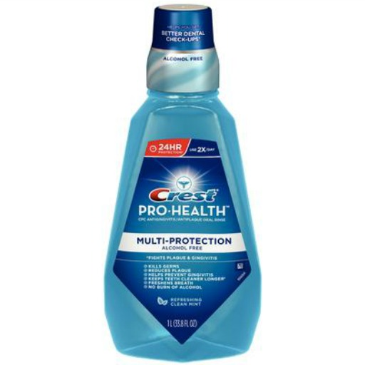bottle of crest multi-protection rinse