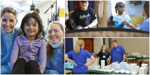 collage of charitable causes supported by Patterson