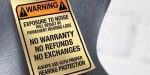 hearing loss warning
