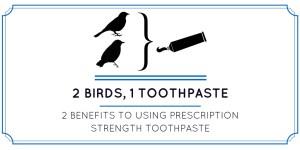 2 birds 1 toothpaste clinpro 5000