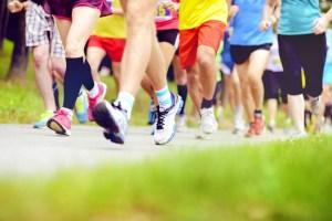 group running feet