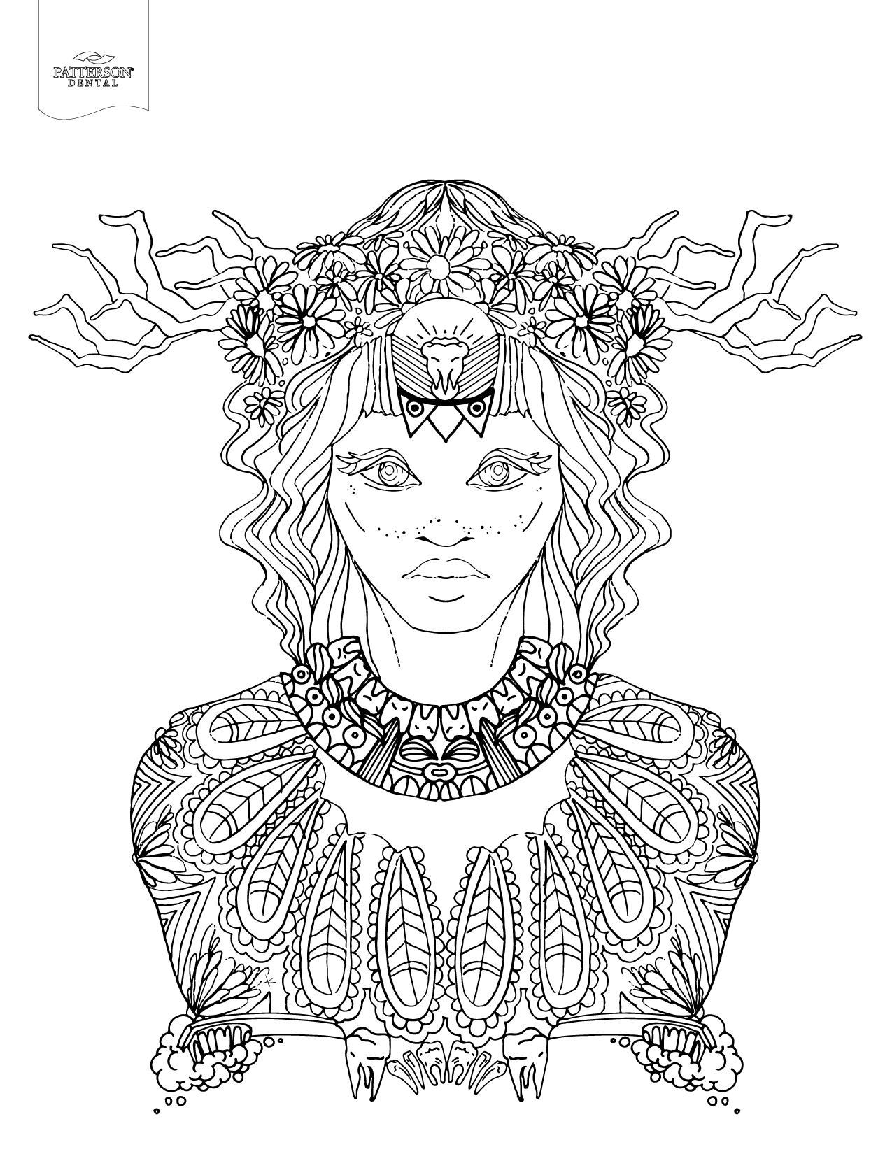 10 Toothy Adult Coloring Pages [Printable] – Off the Cusp   printable colouring pages for adults