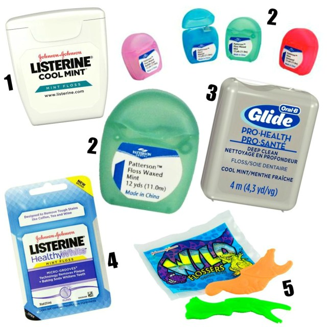 various types of dental floss