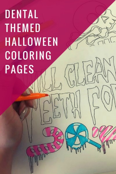DIY Dental Themed  Pun kins    Off The Cusp Printable Halloween Coloring Pages