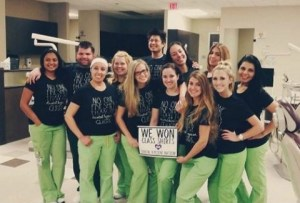 dental professionals get to wear comfortable clothing