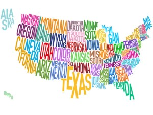 colorful us map