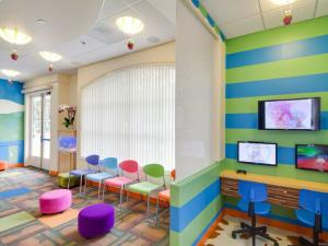 fun bright pediatric dental office design