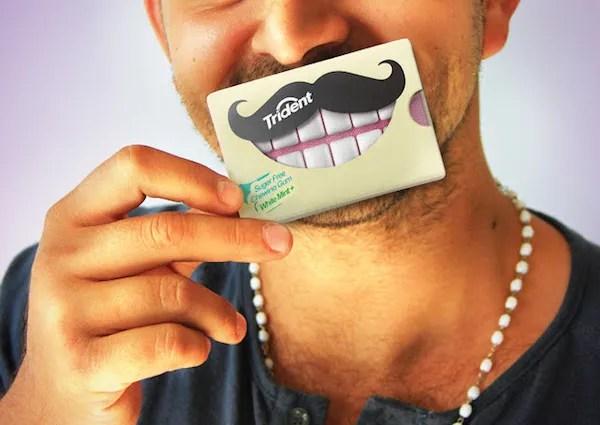 creative trident gum packaging