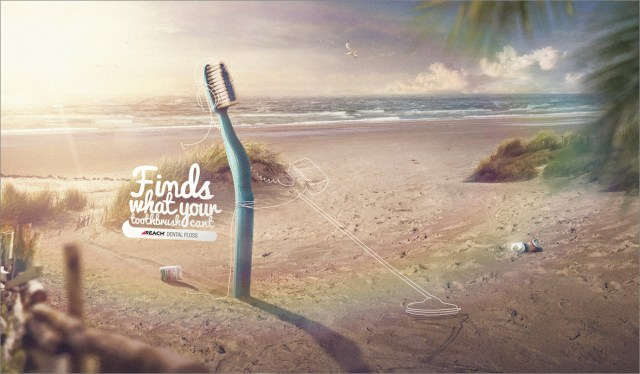 finds what your toothbrush cant advertisement